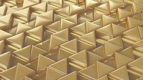 Mosaic of golden triangles Stock Image