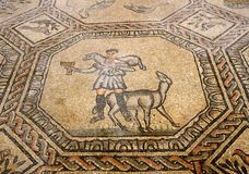 Mosaic of the good shepherd in the historic church of AQUILEIA Stock Photo