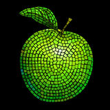 Mosaic green apple Stock Image