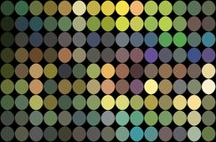 Mosaic green yellow lilac blue dots background. Shimmer holographic illustration. vector illustration