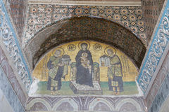 Mosaic in Hagia Sophia Stock Photos