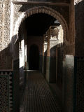 Mosaic Hallway in Building in Fes Royalty Free Stock Image