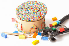 Mosaic handmade souvenir Stock Image