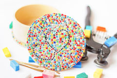 Mosaic craft hobby Stock Images