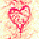 Mosaic heart Stock Images