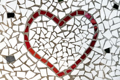 Mosaic heart. A red heart made with mosaic bits Royalty Free Stock Images