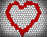 Mosaic heart Stock Image