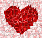 Mosaic with heart Royalty Free Stock Photos