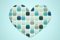 Mosaic heart Royalty Free Stock Image
