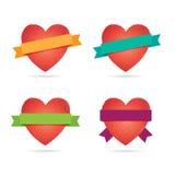 Mosaic Heart Labels. Stock Photo