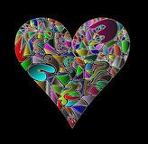 The mosaic heart Royalty Free Stock Photos