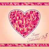 Mosaic heart. Original card. Happy Valentines Day vector illustration