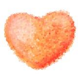 Mosaic heart symbol logo icon design template Stock Photos