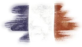 Mosaic heart tiles painting of French flag. Blown in the wind isolated on white background royalty free illustration