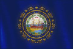 Mosaic heart tiles painting of New Hampshire flag stock illustration