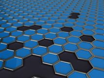 Mosaic of hexagons Royalty Free Stock Image