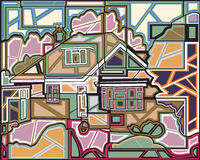 Mosaic home Stock Image