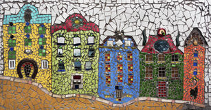 Mosaic houses Stock Photo