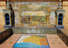 Mosaic of Huelva on bench Stock Photography