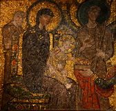 Mosaic icon. In church S.Maria in Cosmedin, Rome, Italy Stock Image