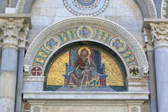 Mosaic icon. Detail of the Pisa Cathedral, Italy Stock Photos