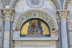Mosaic icon. Detail of the Pisa Cathedral in Italy Stock Images