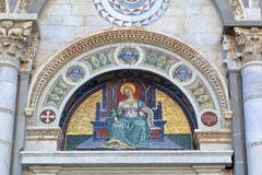 Mosaic icon. Detail of the Pisa Cathedral. Pisa, Italy Royalty Free Stock Photo