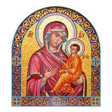Mosaic icon of the Mother of God with Child Royalty Free Stock Photos