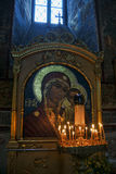 Mosaic Icon of Our Lady of Kazan in Assumption Cathedral Stock Photography