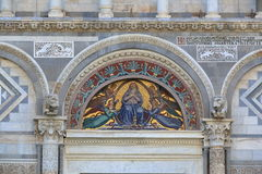 Mosaic icon with Virgin Mary and Angels. Pisa Cathedral, Italy Royalty Free Stock Photo