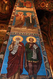 Mosaic icons. Of orthodox church in St. Petersburg Royalty Free Stock Photo