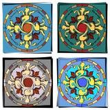 Mosaic illustrations Stock Images
