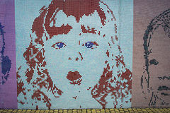 Mosaic image of a girl Stock Photo