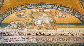 Mosaic image. Hagia Sophia in Istanbul. Turkey Stock Images