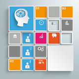 Mosaic Infographic Brainstorming PiAd. Colored rectangles on the grey background. Eps 10  file Stock Images