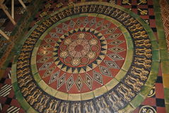 Mosaic. An inlaid floor of the Christ Church Cathedral stock photo