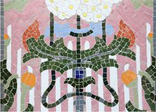 Mosaic. Interesting mosaic detail - decorative and colorful tiles. Background art Stock Images