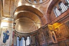 Mosaic interior in Chora church at Istanbul Turkey royalty free stock photos