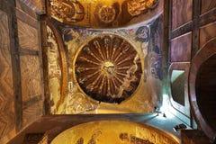 Mosaic interior in Chora church at Istanbul Turkey Stock Photo