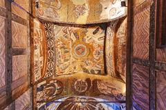 Mosaic interior in Chora church at Istanbul Turkey Royalty Free Stock Photos