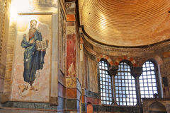 Mosaic interior in Chora church at Istanbul Turkey Stock Image