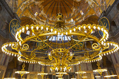 Mosaic interior in Hagia Sophia at Istanbul Turkey Stock Photography