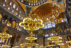 Mosaic interior in Hagia Sophia at Istanbul Turkey Royalty Free Stock Images