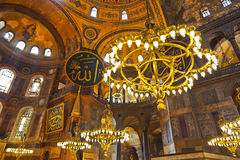 Mosaic interior in Hagia Sophia at Istanbul Turkey Stock Image