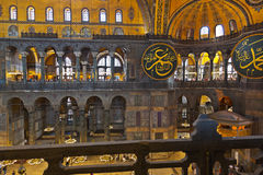 Mosaic interior in Hagia Sophia at Istanbul Turkey Stock Photography