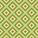 Mosaic interior seamless pattern Royalty Free Stock Photos