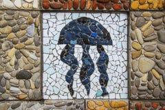 Mosaic jellyfish Royalty Free Stock Image