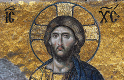 Mosaic of Jesus Christ. Hagia Sofia in Istanbul, Turkey Royalty Free Stock Images