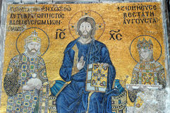 Mosaic of Jesus Christ, Hagia Sofia in Istanbul Royalty Free Stock Image