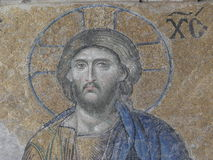 Mosaic of Jesus Christ in Hagia Sophia, Istanbul Stock Images